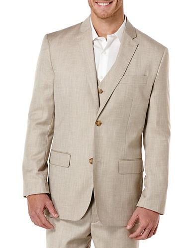 Perry Ellis Monochrome Textured Jacket-BEIGE-48 Tall