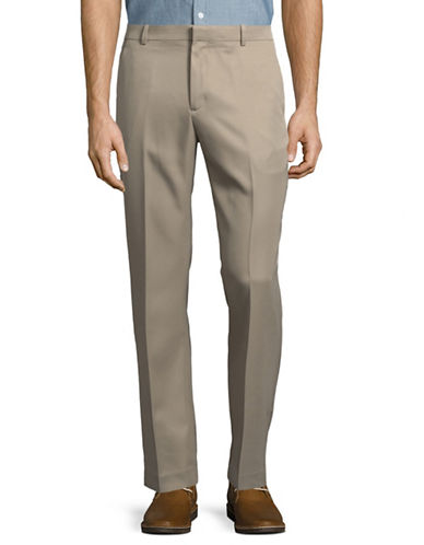 Perry Ellis Luxury Performance Slim Fit Dress Pants-BROWN-38X32