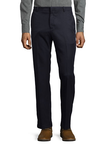 Perry Ellis Luxury Performance Slim Fit Dress Pants-DARK NAVY-36X32