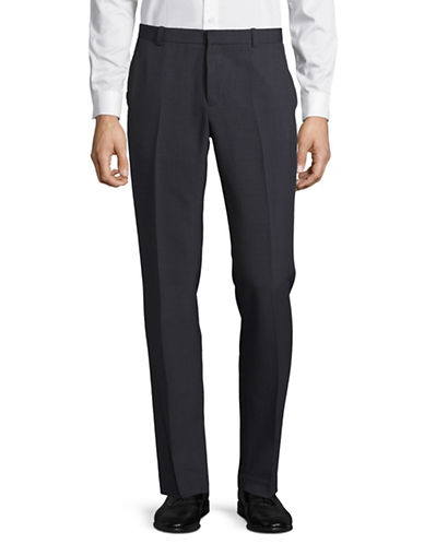 Perry Ellis Non Iron Slim Fit Pants-GREY-34X32