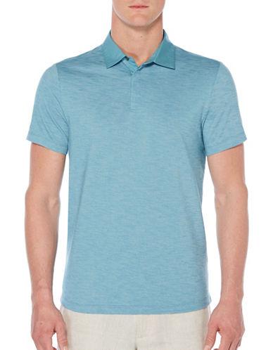 Perry Ellis Slub Knit Polo-BLUE-Large