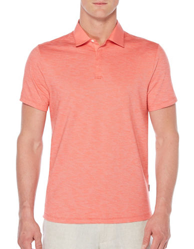 Perry Ellis Slub Knit Polo-RED-X-Large