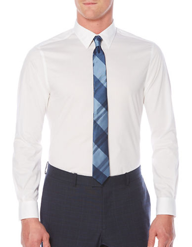 Perry Ellis Travel Luxe Luxury Twill Shirt-WHITE-Small