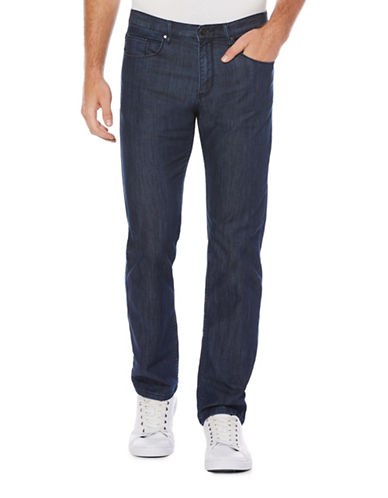 Perry Ellis Slim-Fit Coolmax Stretch Jeans-BLUE-34X32