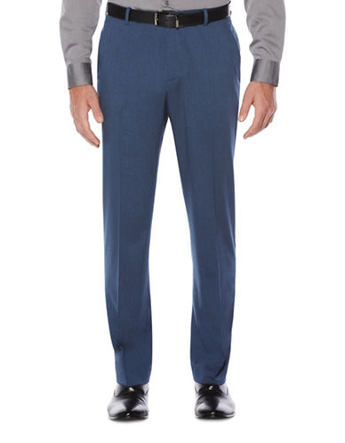 Perry Ellis Heathered Twill Dress Pants-BLUE-34X32
