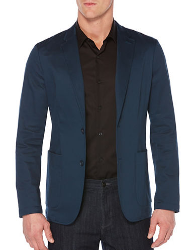 Perry Ellis Slim Fit Chambray Sport Jacket-BLUE-XX-Large 89227813_BLUE_XX-Large