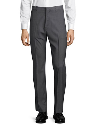 Perry Ellis Slim Fit Trousers-SILVER-32X32