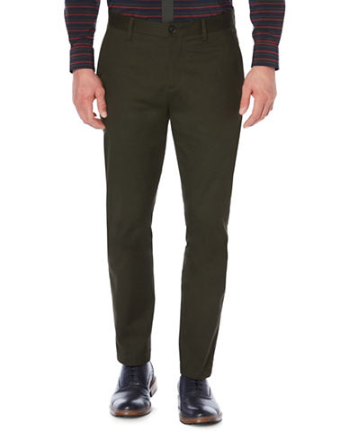 Perry Ellis Bedford Cord Pants-GREEN-38X32