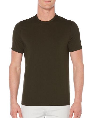 Perry Ellis Crewneck Knit T-Shirt-GREEN-Large