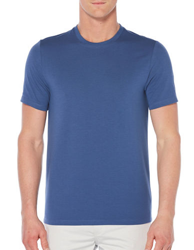 Perry Ellis Crewneck Knit T-Shirt-BLUE-Large 89596579_BLUE_Large
