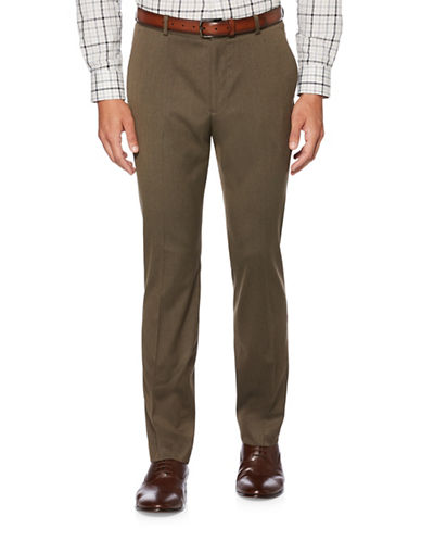 Perry Ellis Textured Suit Pants-BROWN-30X32
