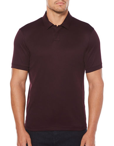 Perry Ellis Open Knit Polo-RED-Medium