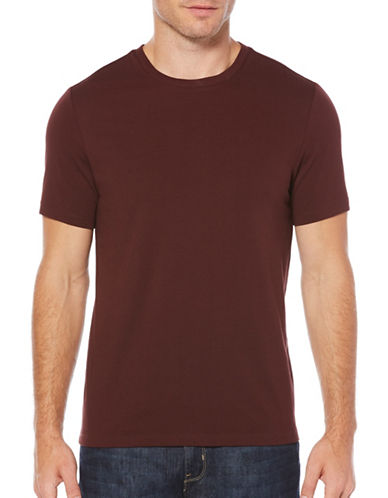 Perry Ellis Crewneck Knit T-Shirt-RED-Small