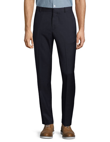 Perry Ellis Slim-Fit Dress Pants-BLUE-36X34