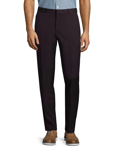 Perry Ellis Slim-Fit Diamond Dress Pants-RED-32X30