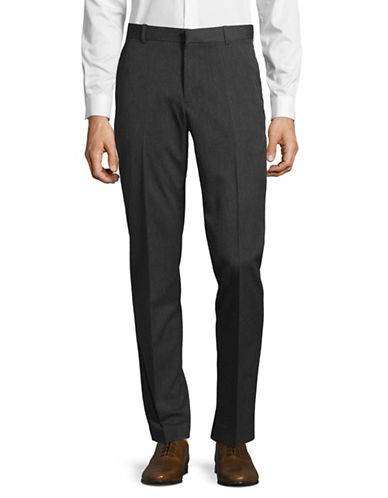 Perry Ellis Slim-Fit Diamond Dress Pants-GREY-32X30