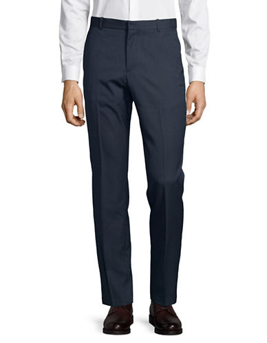 Perry Ellis Portfolio Zip Trousers-BLUE-36X30