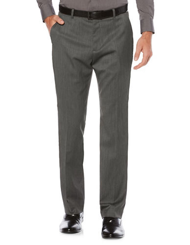 Perry Ellis Solid Textured Pants-GREY-30X32