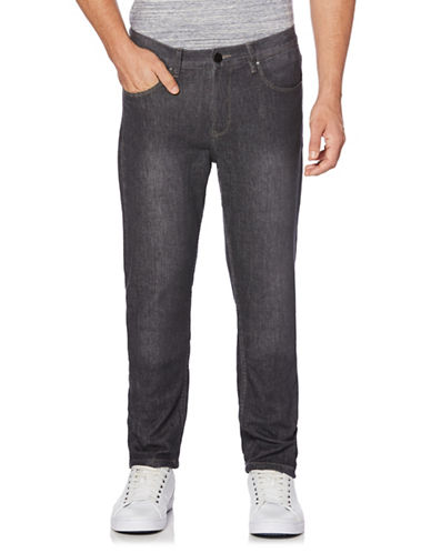 Perry Ellis Slim-Fit Stretch Jeans-GREY-36X32