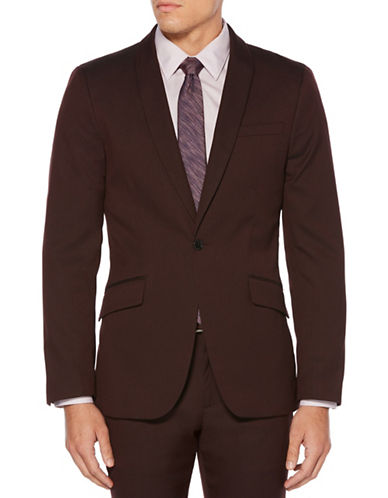 Perry Ellis Slim-Fit Textured Suit Jacket-RED-42 Regular
