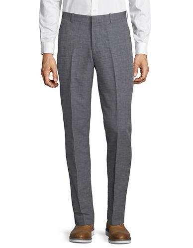Perry Ellis Cotton-Blend Slim Pants-BLUE-34X32