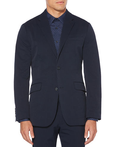 Perry Ellis Seersucker Tech Suit Jacket-BLUE-42 Regular