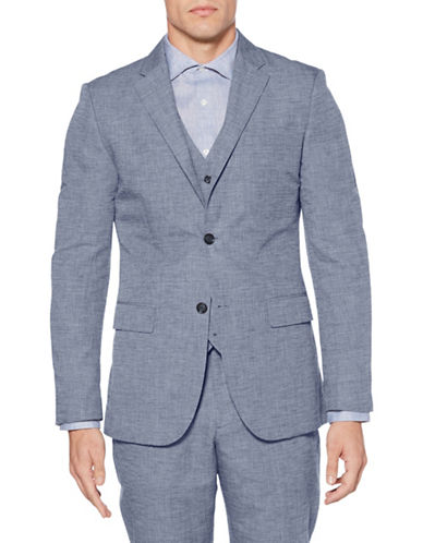 Perry Ellis Slim-Fit Suit Jacket-BLUE-46 Regular