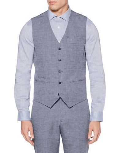 Perry Ellis Slim-Fit Suit Vest-BLUE-Large