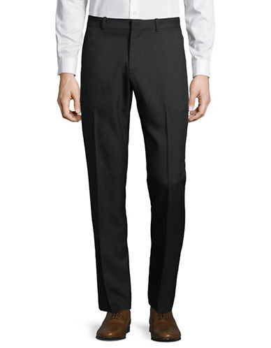 Perry Ellis Portfolio Dress Pants-BLACK-34X30