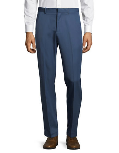 Perry Ellis Luxury Performance Slim Fit Dress Pants-BLUE-30X32