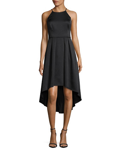 Aidan Aidan Mattox Halter Hi-Lo Cocktail Dress-BLACK-0