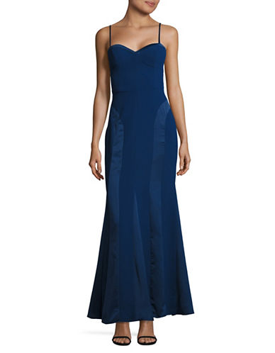 Aidan Aidan Mattox Spaghetti Strap Sweetheart Gown-BLUE-12