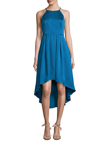 Aidan Aidan Mattox Halter Hi-Lo Cocktail Dress-BLUE-2