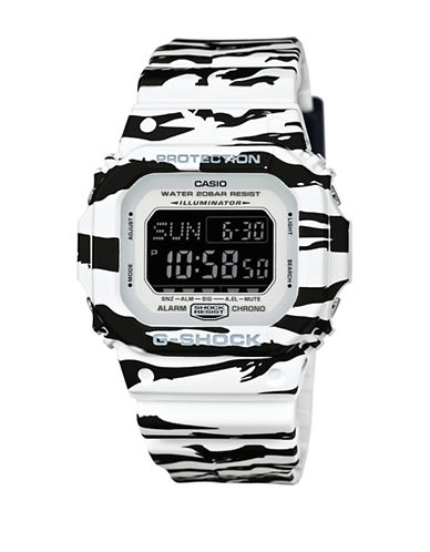 Casio Digital G Shock Tiger Camo Watch-BLACK/WHITE-One Size