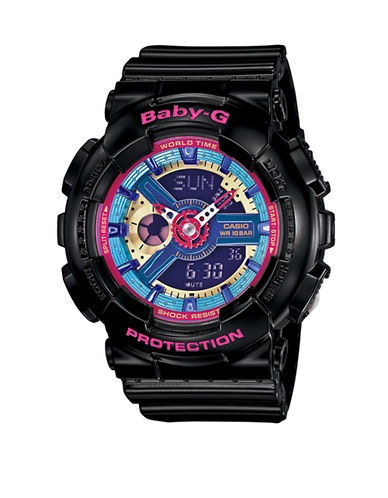 Casio Womens Neon Colours Baby G BA112-1A-BLACK-One Size