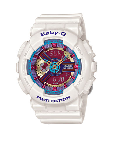 Casio Womens Neon Colours Baby G BA112-7A-WHITE-One Size