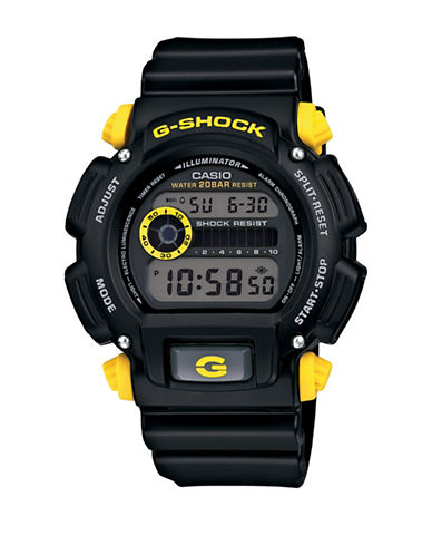 Casio Digital G-Shock Resin Watch-BLACK-One Size
