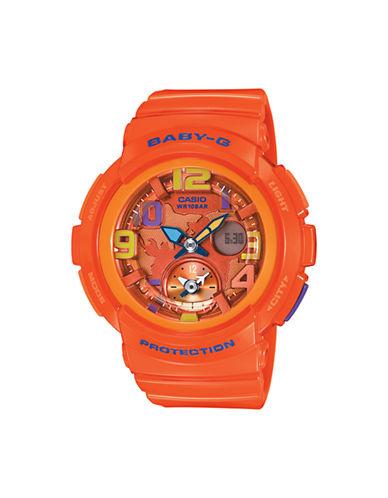 Casio Womens Analog Baby G Watch BGA190-4B-ORANGE-One Size