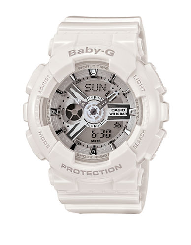 Casio Womens Analog Baby G Watch BA110-7A3-WHITE-One Size