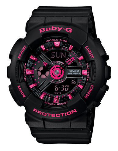 Casio Womens Baby G Standard AnaDigi Watch-BLACK-One Size