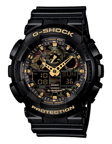 Casio Mens GShock Oversized AnaDigi Watch-BLACK-One Size