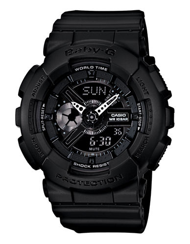 Casio Womens Baby G Oversized AnaDigi Watch-BLACK-One Size