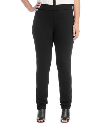 Nydj Plus Jodie Ponte Knit Leggings-BLACK-14W