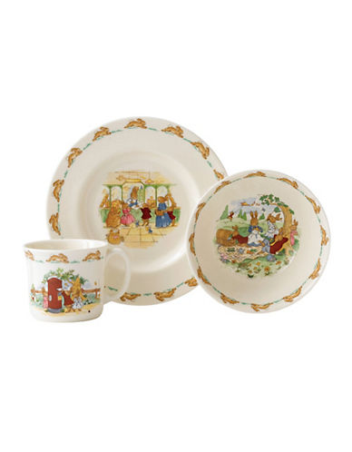Royal Doulton Bunnykins Classic 3 Piece Children's Dinner Set-MULTI-COLOURED-One Size