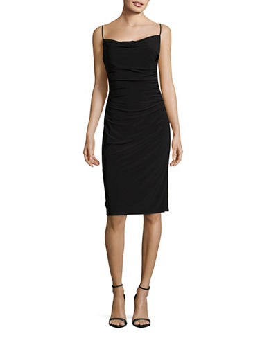 Laundry By Shelli Segal Cowl Neck Slip Dress-BLACK-14