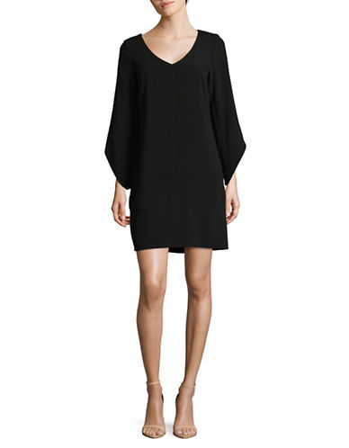 Laundry By Shelli Segal Tulip Sleeve Trapeze Dress-BLACK-6