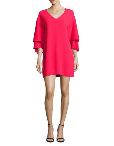 Laundry By Shelli Segal Bell Sleeve Shift Dress-PINK-8