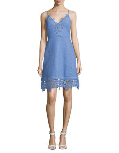 Laundry By Shelli Segal Lace Trim Sheath Dress-BLUE-6