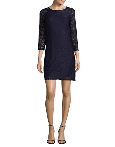 Laundry By Shelli Segal Lace Sheath Dress-BLUE-6