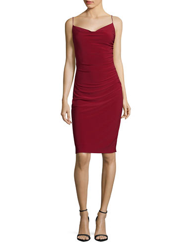 Laundry By Shelli Segal Skinny Strap Fitted Cocktail Dress-RED-12